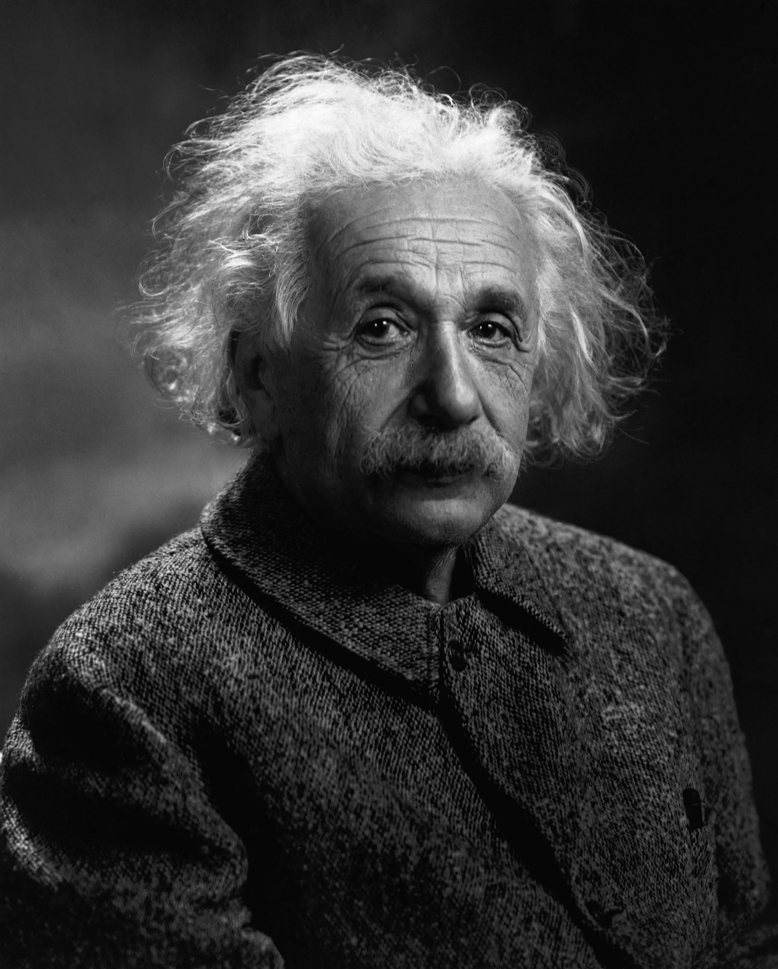 Фото (портрет) Альберта Эйнштейна с большим разрешением. Portrait of Albert Einstein