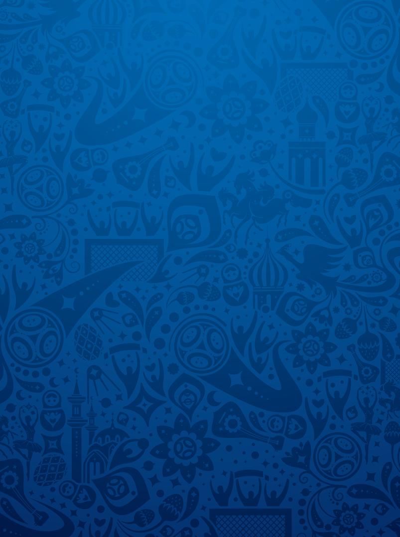 Фирменный паттерн (фон) Чемпионата мира по футболу 2018