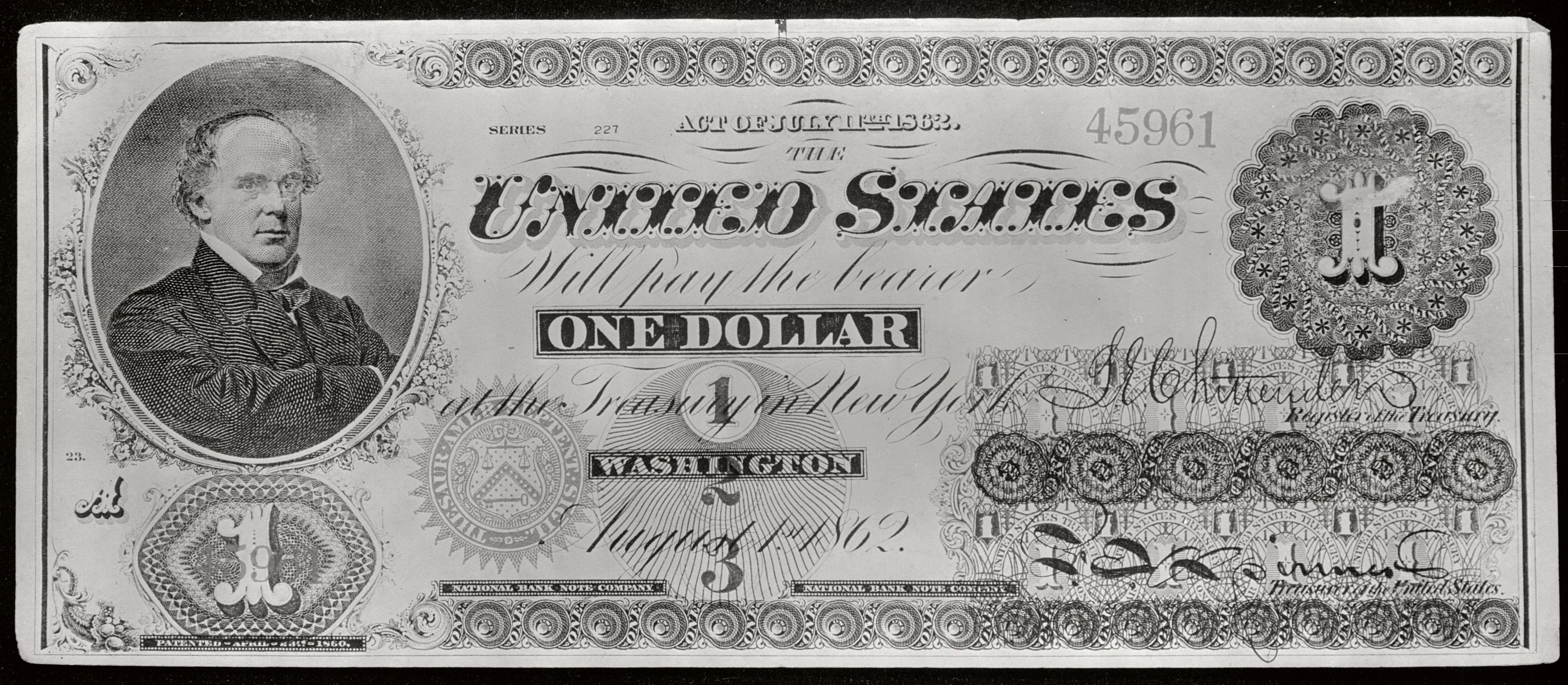 Один доллар США 1862 года