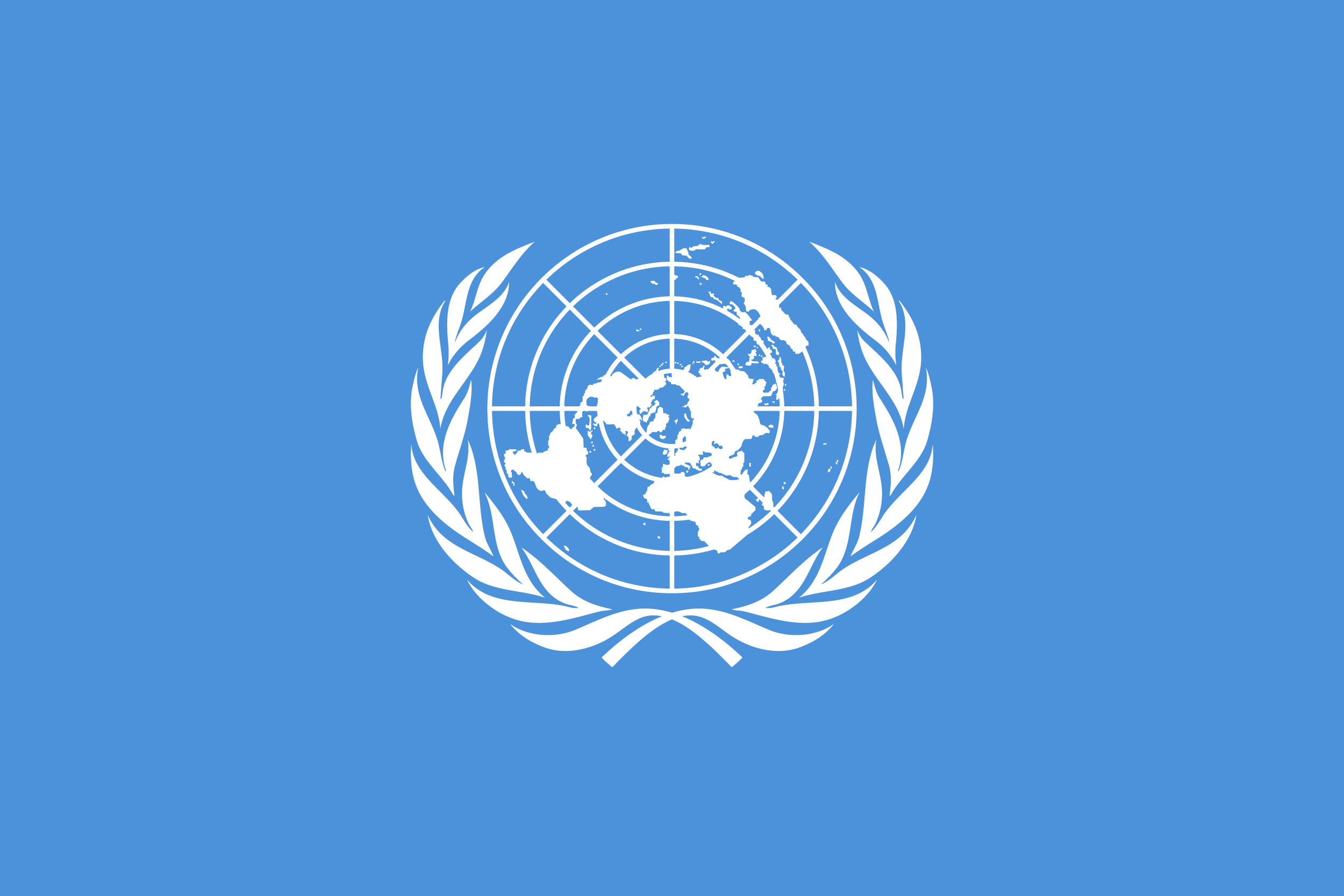 Флаг ООН (организации объединенных наций)