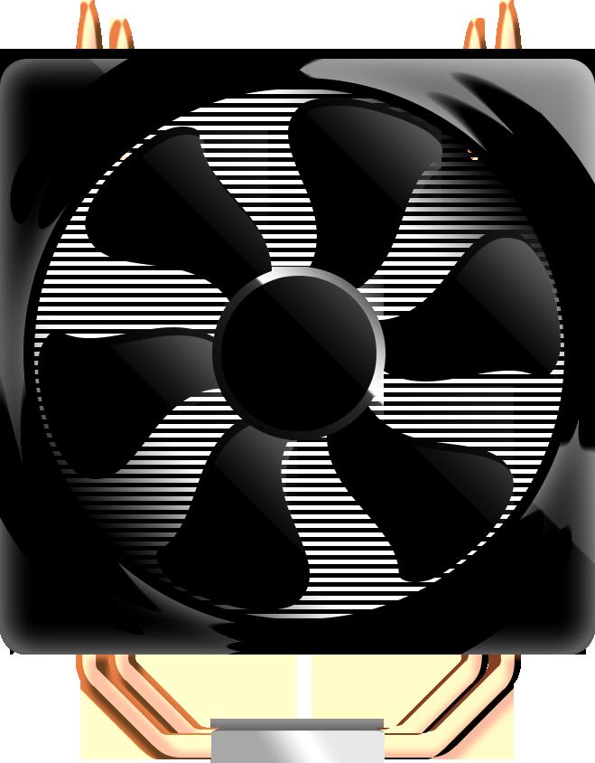 Изображение компьютерного вентилятора (кулера, computer fan)