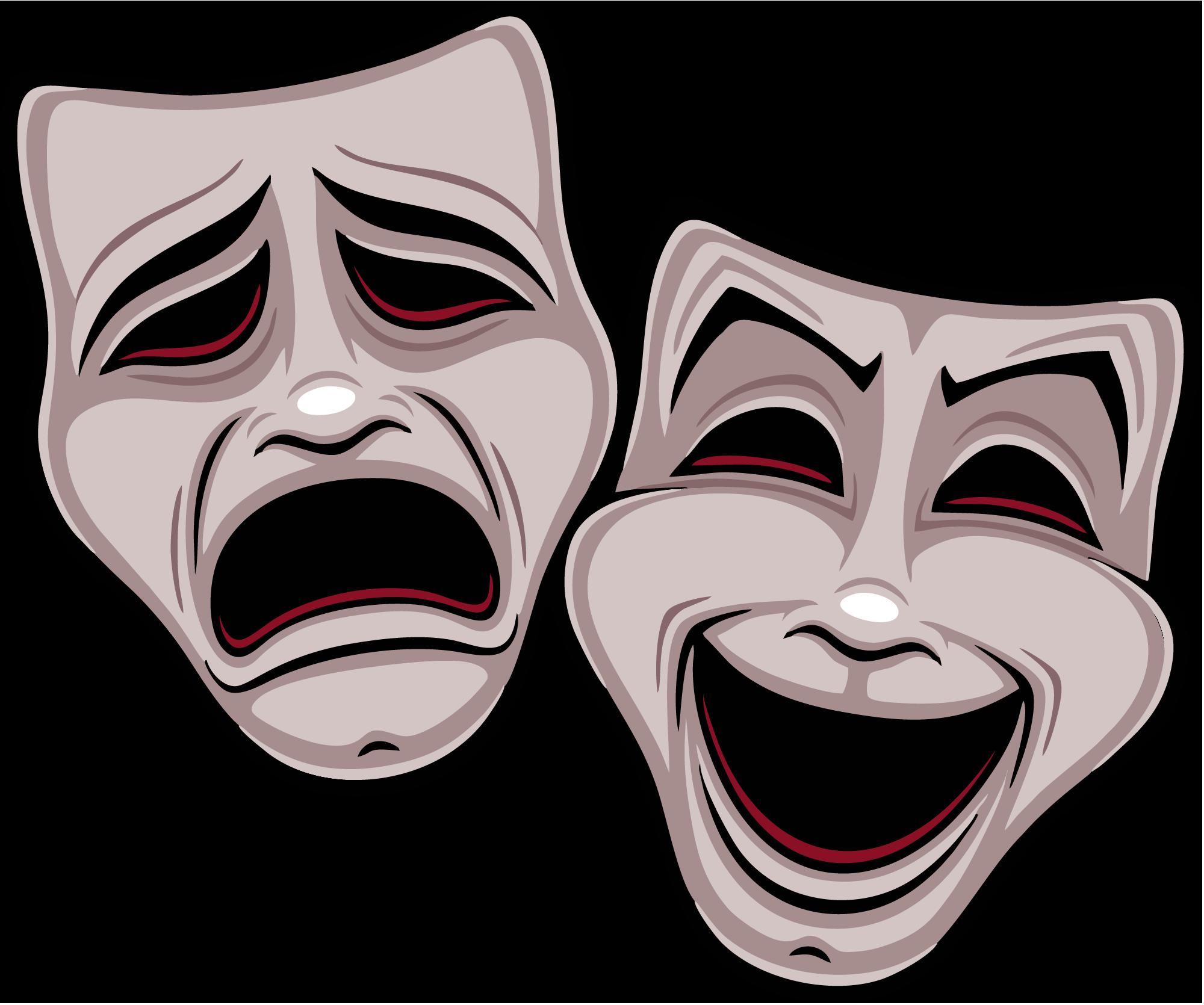 Картинки маски театральные грустно веселые