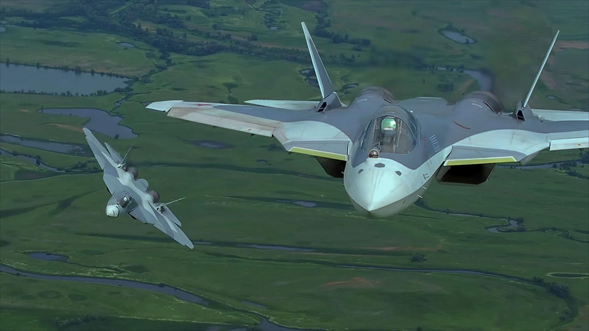 Самолет ПАК ФА, Т-50, И-21 - обои на рабочий стол