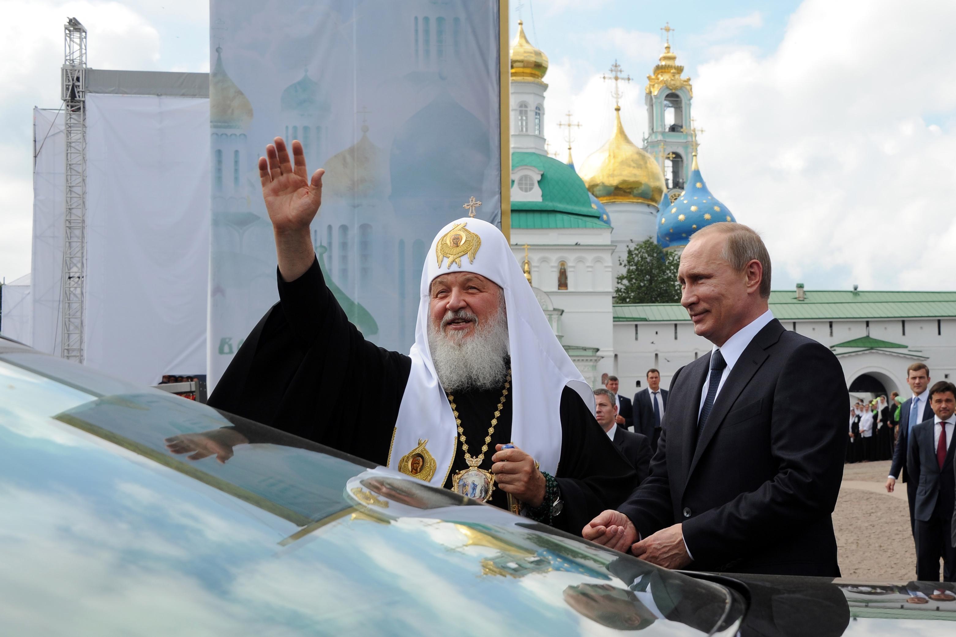 Владимир Путин и патриарх Кирилл - фото с большим разрешением