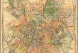 План (карта) города Москвы с пригородами 1910 года