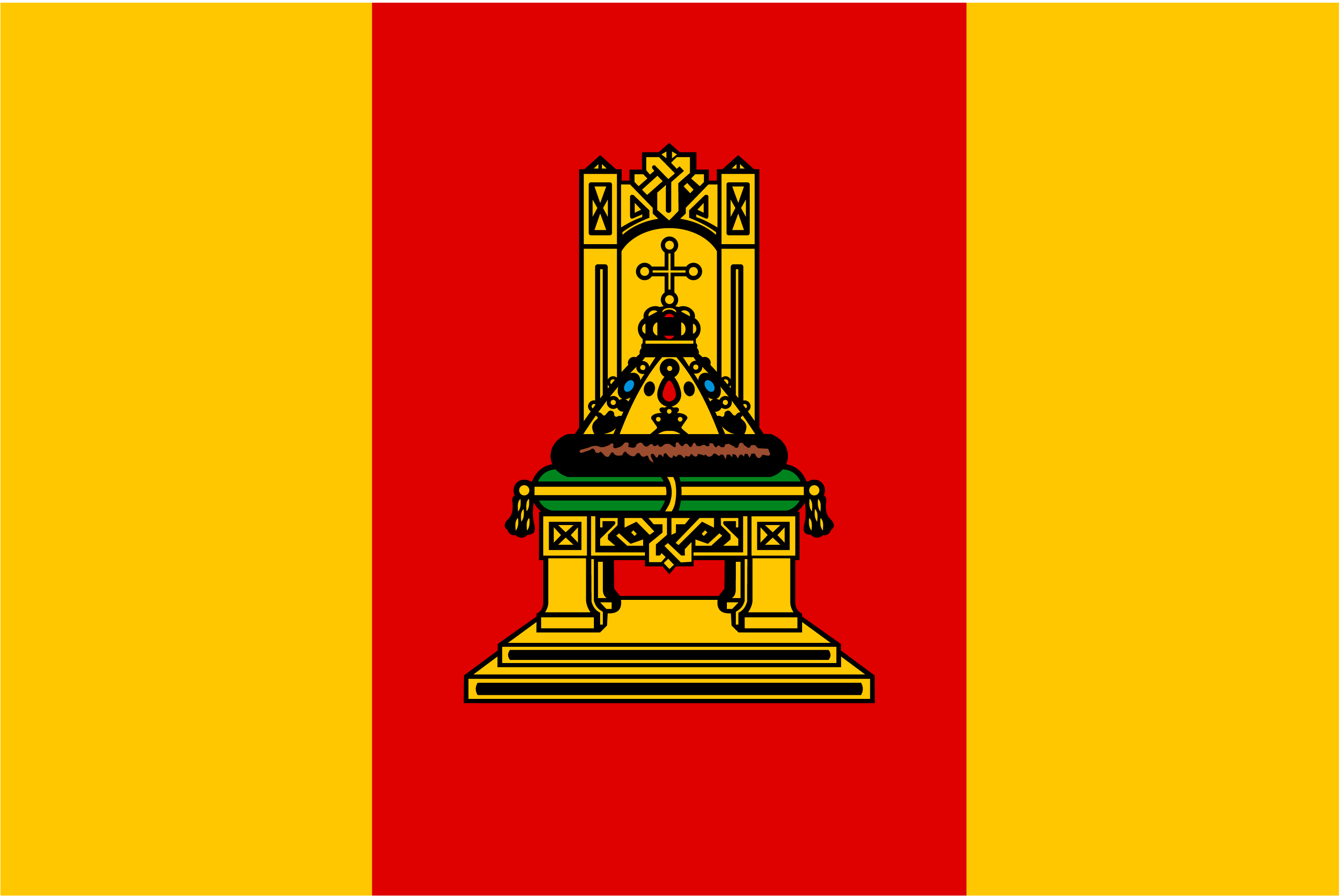 Векторный флаг Тверской области