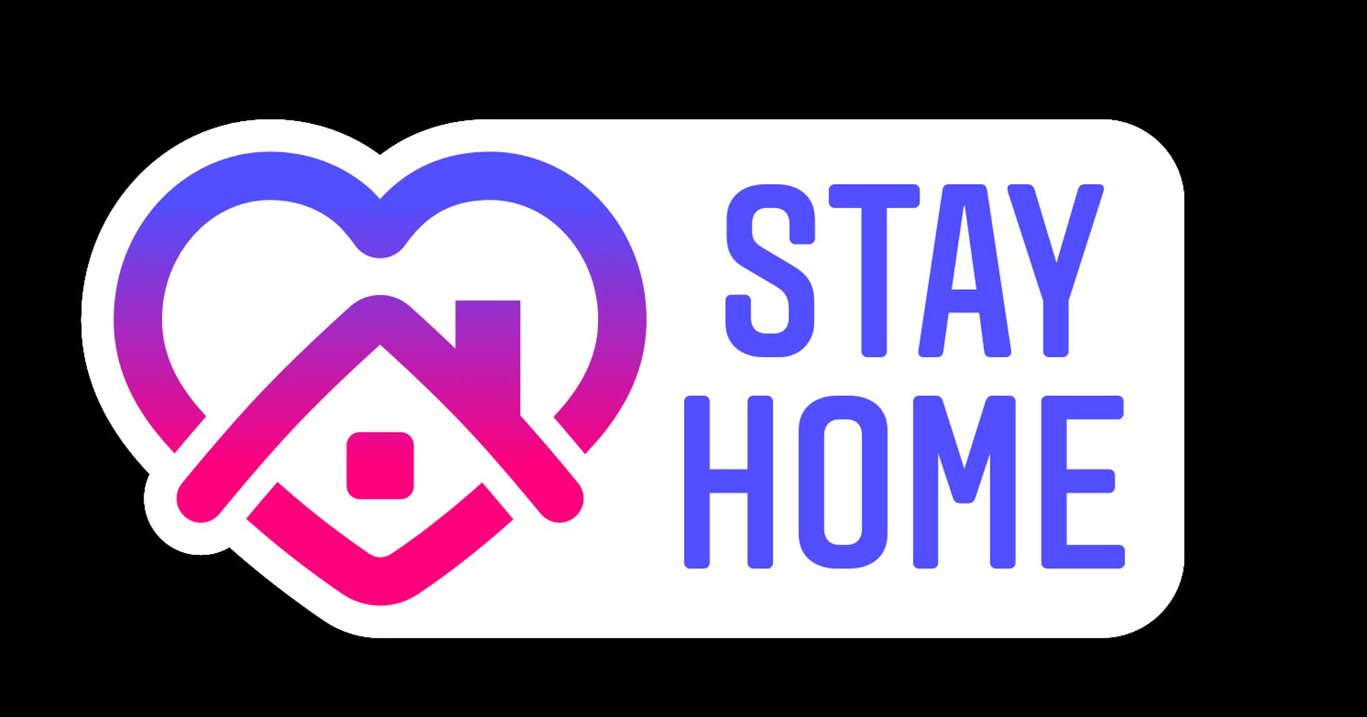 """Стикер Инстаграма """"Оставайся дома"""" с высоким разрешением в формате png"""